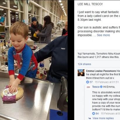 【海外発!Breaking News】自閉症の3歳児に「レジを手伝ってみない?」 スタッフの意外な提案に母親が感激(英)