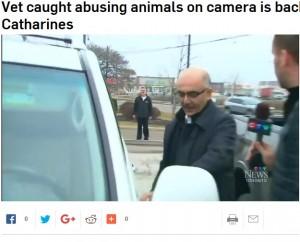 【海外発!Breaking News】ペット犬を虐待していた獣医に市民が怒りのデモ(カナダ)