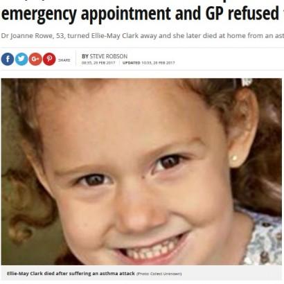 【海外発!Breaking News】わずか4分「遅れたから診察しない」医師の診察拒否で5歳女児が死亡(英)