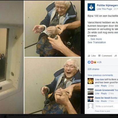 【海外発!Breaking News】99歳おばあちゃんのバケット・リストは「逮捕されること」念願かなって刑務所へ(オランダ)