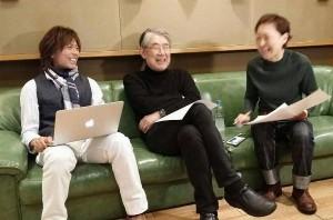 クミコの新曲をレコーディングする松本隆とつんく♂(出典:https://www.instagram.com/takashi_mtmt)