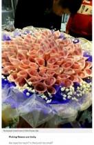 【海外発!Breaking News】愛はお金で買える!? 中国人男性、紙幣でできた花束を恋人にプレゼント