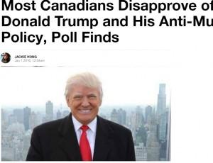 【海外発!Breaking News】カナダの最新世論調査で国民の84%が「トランプ米大統領は嫌い」と判明