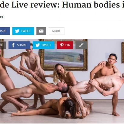 【海外発!Breaking News】観客もダンサーも裸のショー「ヌード・ライブ」 究極のアートショー(豪)
