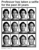 30年間、毎日顔写真を撮り続けた男性 総数11000枚に(米)