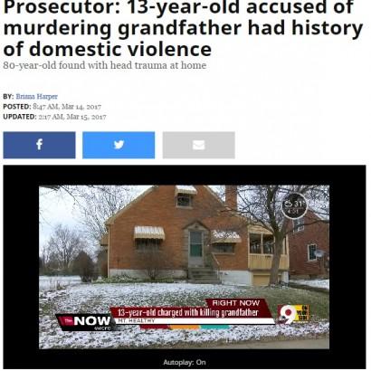 【海外発!Breaking News】80歳祖父殺害事件 13歳の孫の起訴が確定(米)