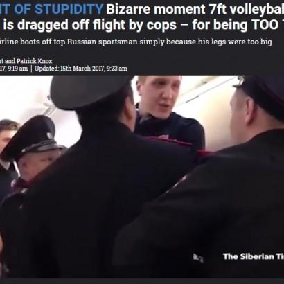 【海外発!Breaking News】「長い脚が邪魔」 露・格安エアライン、有名バレーボール選手を強制降機させる