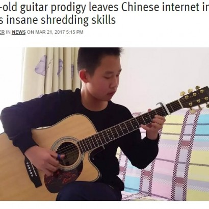 【海外発!Breaking News】中国に13歳天才ギタリスト現る!<動画あり>
