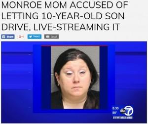 【海外発!Breaking News】10歳息子に車を運転させ、Facebookにライブ投稿していた母親(米)