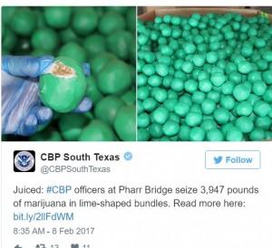 【海外発!Breaking News】ライムの中身はメキシコ産大麻 テキサス国境で1.8トン押収