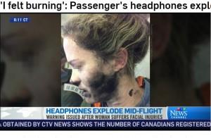 【海外発!Breaking News】機内でヘッドホンが爆発 豪・運輸安全局「リチウムイオン電池には気を付けて」