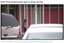 【海外発!Breaking News】小学校マイカー送迎の母親同士が大喧嘩、拳銃を握りしめる 世も末の銃社会アメリカ