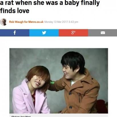 【海外発!Breaking News】ネズミに齧られ鼻を失った女性、いじめや離婚を乗り越え運命の相手に出会う(中国)