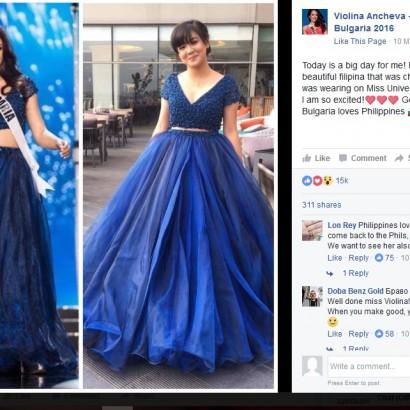 【海外発!Breaking News】娘のプロム用ドレスが買えないシングルマザーに、ミス・ブルガリアが衣装を贈る(フィリピン)