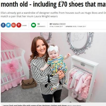 【海外発!Breaking News】生後8か月の娘に月5万円以上のブランド服を与える母(スコットランド)