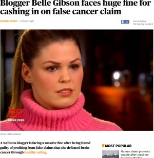 【海外発!Breaking News】末期がんと偽り克服本まで出版 嘘を重ね大金を得た女ブロガー(豪)