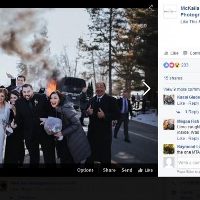 【海外発!Breaking News】教会到着後、乗っていたバスが炎上 それでも記念撮影した新郎新婦ご一行(米)