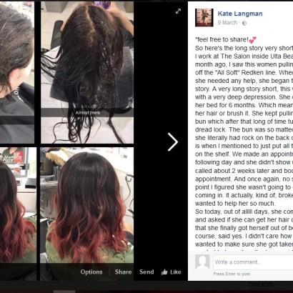 【海外発!Breaking News】半年間洗髪していなかった女性 美容師のテクニックで超美髪に(米)