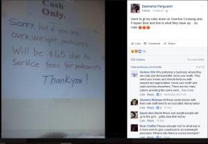【海外発!Breaking News】「肥満客は料金割り増し」ネイルサロンの貼り紙が「失礼すぎる」(米)