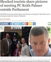 【海外発!Breaking News】ロンドンテロで殉職した警察官 一緒に写真を撮った観光客らSNSで追悼