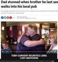 【海外発!Breaking News】カナダに移住した兄と40年ぶりに再会した英男性