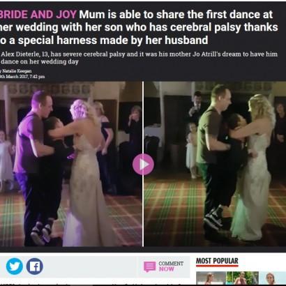 【海外発!Breaking News】脳性麻痺の息子と初めてダンスした母、結婚式でのサプライズに感涙(英)