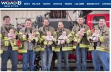 【海外発!Breaking News】7か月間で6人の赤ちゃんが次々と誕生! 賑やかな消防署(米)