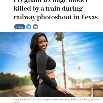 【海外発!Breaking News】線路内で撮影中のモデル、列車にはねられ死亡(米)