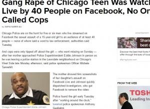【海外発!Breaking News】少女集団レイプの動画がFacebook Liveに 40名超が閲覧も通報せず(米)