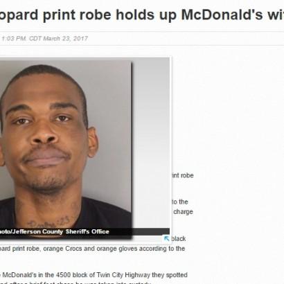 【海外発!Breaking News】マクドナルド強盗事件 武器はヘアブラシ!(米)
