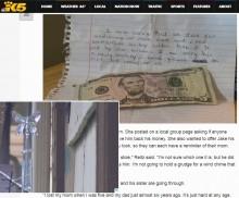 【海外発!Breaking News】「ごめんなさい」の手紙とともに添えられた5ドル札 その意味は?(米)
