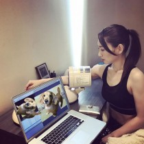 【エンタがビタミン♪】増田有華、フィットネスウェア姿で血圧測定 凛々しい姿に「格闘家かよ!」
