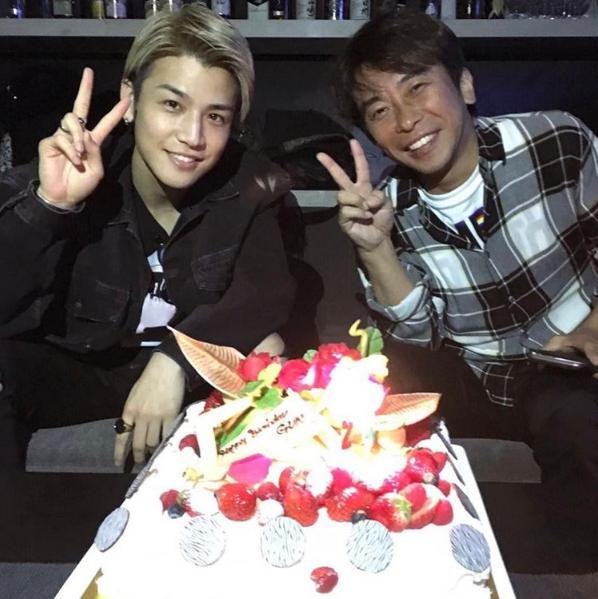 岩田剛典の誕生日を祝う松浦社長(出典:https://www.instagram.com/masatomatsuura)