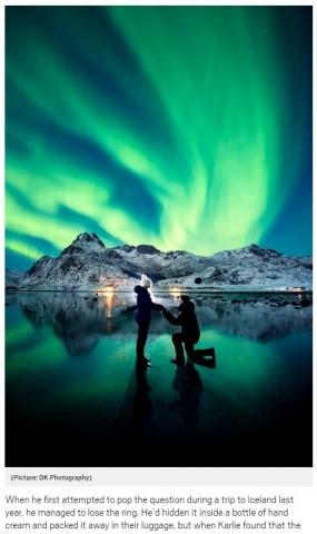 【海外発!Breaking News】最高にロマンチック! オーロラを背景にプロポーズした男性(豪)