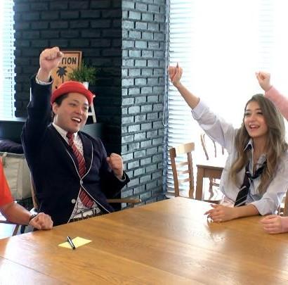 【エンタがビタミン♪】三太郎が遊ぶ「桃ちゃんの桃ゲーム」 みちょぱとアラフォー芸人は仲良くなれるか?
