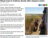 【海外発!Breaking News】枕木泥棒で機関車が脱線、はずみで運転手が落下(南ア)