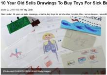【海外発!Breaking News】「病気の弟におもちゃを買ってあげたい」絵を描き続ける10歳少年(米)