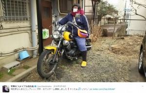 普通二輪免許時代の安藤なつ(https://twitter.com/puchiandonatsu)