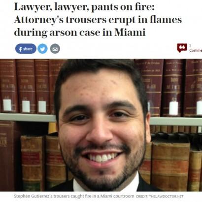 【海外発!Breaking News】放火事件を裁く法廷でボヤ騒ぎ 弁護士のズボンで電子タバコが発火(米)