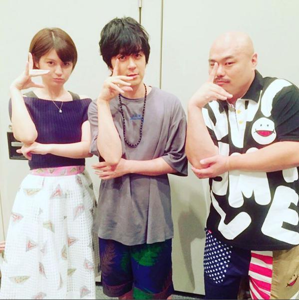 竹中夏海とヒャダイン、クロちゃん(出典:https://www.instagram.com/tknk723)