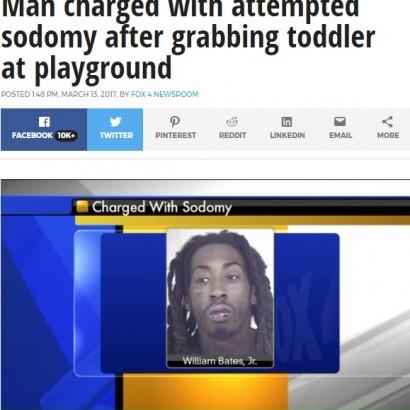 【海外発!Breaking News】公園で2歳女児のオムツを下ろして下半身を押し付ける 24歳男を逮捕(米)