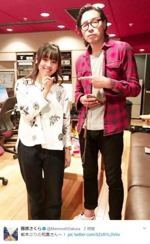 【エンタがビタミン♪】藤原さくらが斉藤和義と再会ショット 身長差に「パパと娘感ハンパない」