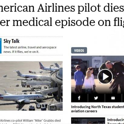 【海外発!Breaking News】着陸前の機内でパイロットが死亡 65歳定年制に不安の声も(米)