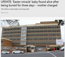 【海外発!Breaking News】母親に生き埋めにされた赤ちゃん、2日後に無事発見(南ア)