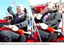 【海外発!Breaking News】欧最速ジェットコースターで男性客にハトが激突(スペイン)<動画あり>