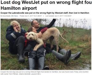 【海外発!Breaking News】ウエストジェット航空、犬を間違った便に乗せる(カナダ)