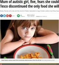 【海外発!Breaking News】自閉症の娘が唯一口にする食品が製造中止へ 「飢え死にする」母が不安を吐露(英)