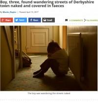 【海外発!Breaking News】手足に糞便、裸でさまよっていた3歳男児 通行人に助けを求める(英)