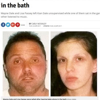 【海外発!Breaking News】浴槽で1歳児が溺死 友人の訪問で目を離した両親に懲役刑(英)