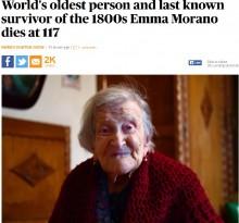 【海外発!Breaking News】「長生きの秘訣は卵」と語っていた世界最高齢女性、117歳で死去(伊)